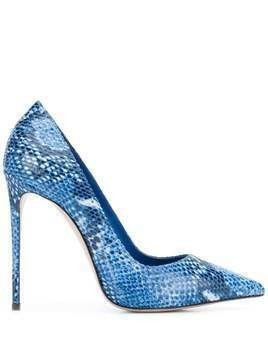 Le Silla Eva 120mm snake-print pumps - Blue