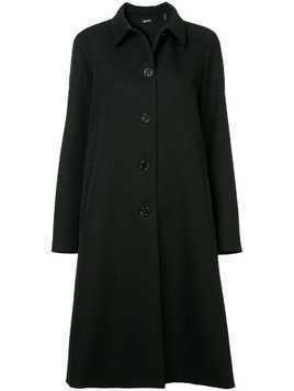 Jil Sander Navy Classic Tailored Coat - Black