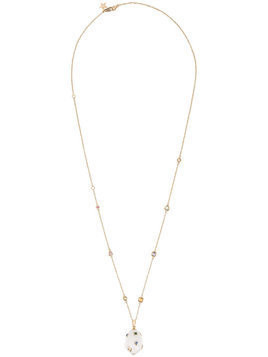 Bibi Van Der Velden mammoth egg diamond sapphire necklace - Metallic