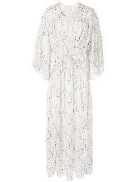 Acler Eclipse print maxi dress - White