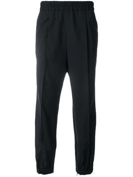 Kris Van Assche elasticated waist track pants - Black
