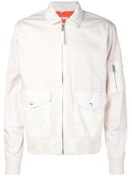 321 zip flight jacket - White