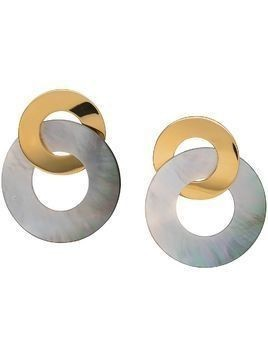 Lizzie Fortunato Jewels interlocking geometric earrings - GOLD