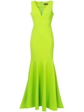 Greta Constantine Macapa V-neck gown - Green