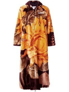 Marine Serre sunflower print long tracksuit jacket - Orange