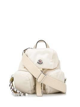 Moncler logo patch backpack - Neutrals