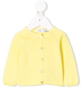 Knot crew neck cardigan - Yellow