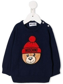Moschino Kids Teddy Bear sweatshirt - Blue