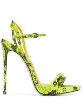 Le Silla Gwen snake-effect sandals - Yellow