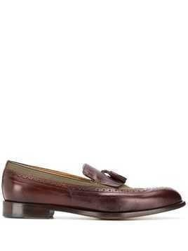Doucal's tassel detail loafers - Red