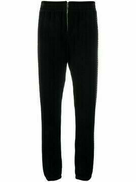 Juicy Couture Swarovski embellished velour zip jogger pant - Black