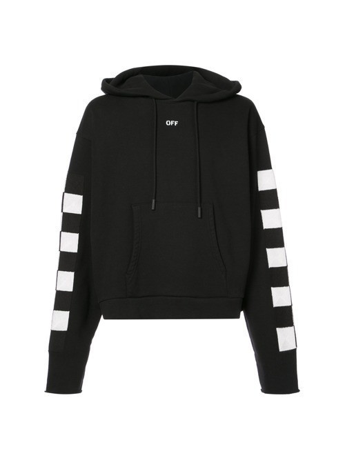 Off-White checked hoodie - Black