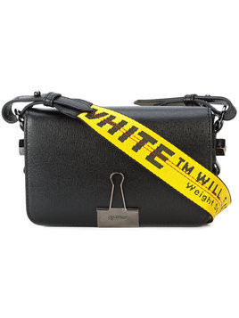 Off-White Binder Clip mini bag - Black