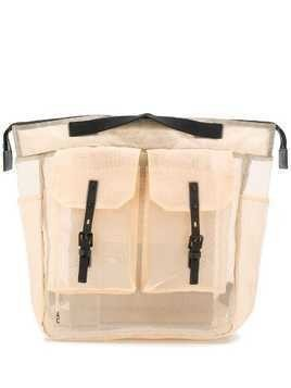 Ally Capellino Frank sheer backpack - Neutrals
