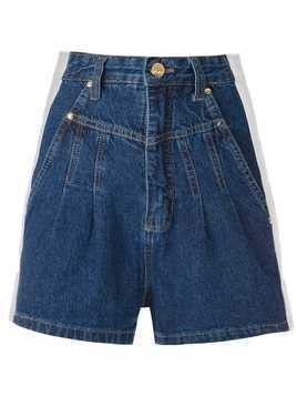Amapô clochard bicolor shorts - Blue
