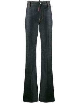 Dsquared2 high-waisted bootcut jeans - Blue