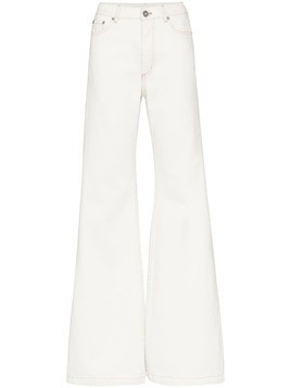 Matthew Adams Dolan mid-rise flared jeans - White