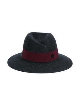 Maison Michel 'Virginie' Wool Felt Fedora Hat - Grey