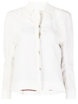 Atelier Bâba brushed fitted shirt jacket - White