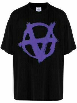 VETEMENTS Anarchy graphic-print T-shirt - Black