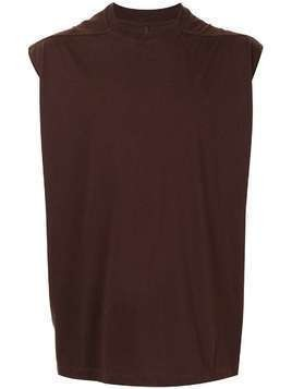 Rick Owens panelled crew neck tank top - Brown
