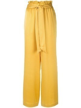 Asceno satin palazzo pants - Yellow