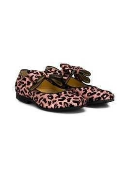 Gallucci Kids bow detail ballerinas - PINK