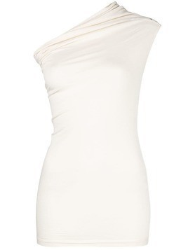 Rick Owens one shoulder tank top - White