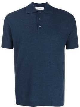Pringle Of Scotland knitted polo T-shirt - Blue