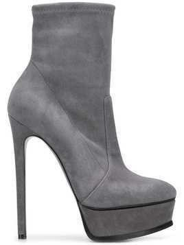 Casadei pointed toe boots - Grey