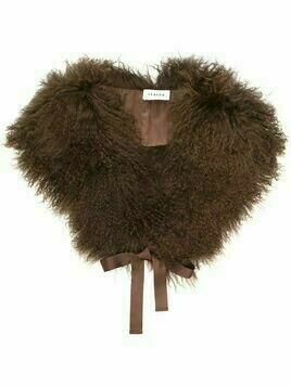 P.A.R.O.S.H. fur removable collar - Brown
