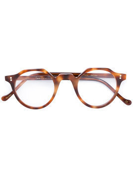 Lesca round frame glasses - Brown
