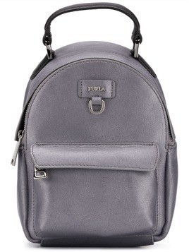 Furla logo plaque backpack - Grey