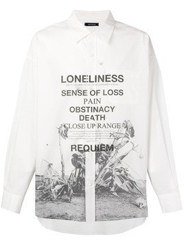 Christian Dada printed classic shirt - White