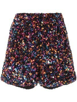 Manish Arora sequinned shorts - Black