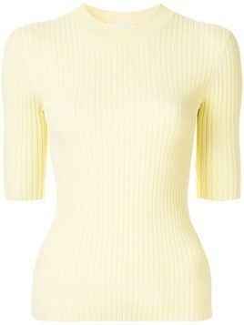 Dion Lee fitted ribbed top - Yellow