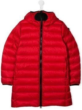 AI Riders on the Storm TEEN zipped coat - Red