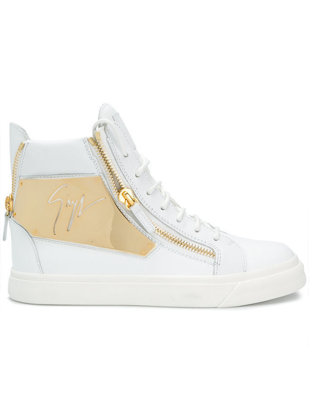 Giuseppe Zanotti zipped hi-top sneakers - White
