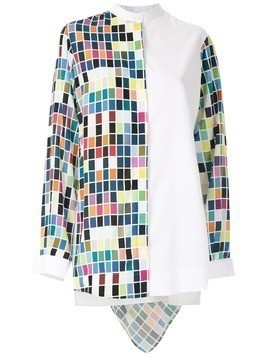 Gloria Coelho printed hooded shirt - White