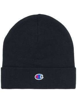 Champion logo embroidered beanie hat - Blue