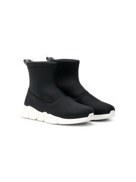 Lanvin Enfant TEEN hi-top sock sneakers - Black