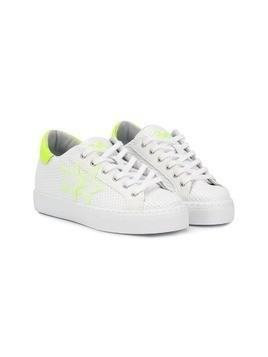 2 Star Kids woven effect sneakers - White