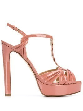 Francesco Russo platform open-toe sandals - Pink