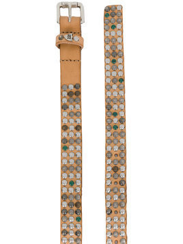 Htc Los Angeles studded belt - Brown