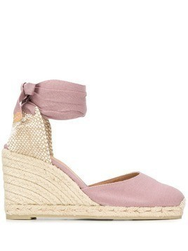 Castañer Carina 80 wedge espadrilles - Purple