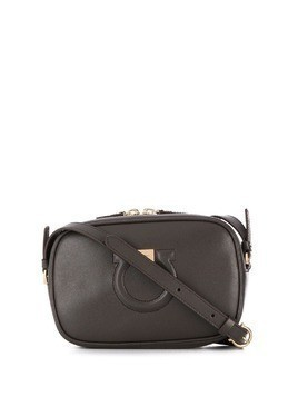 Salvatore Ferragamo logo shoulder bag - Brown