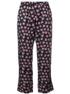 Love Stories star printed pyjama trousers - Black