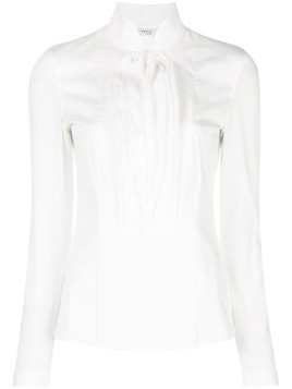 Akris Punto pleated bib shirt - White