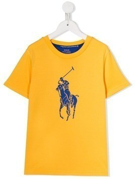 Ralph Lauren Kids logo print T-shirt - Yellow