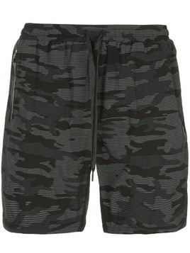 The Upside camouflage print cargo shorts - Black